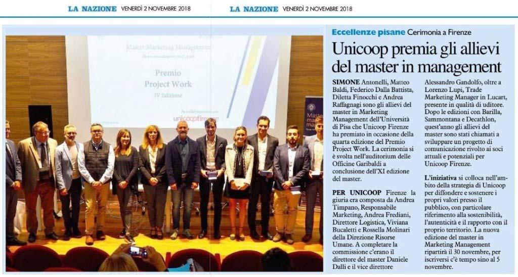 Vincitori Premio Project Work - Unicoop Firenze